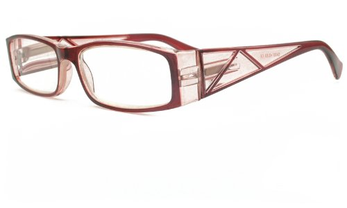 About Eyes G430 Red Reading Glasses Strength +3.50 with Pouch
