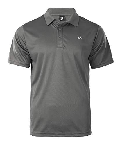 martes Herren Solo Funktions Polo Shirt, Castlerock/Reflective, XXL