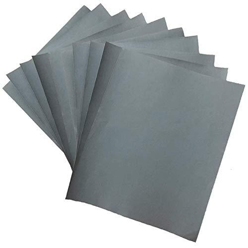 耐水ペーパー 耐水サンドペーパー 研磨紙 10枚セット(#2500、#3000 (各5枚 計10枚) 280×230mm 自動車修理、陶器 家具 工作 研磨掃除用