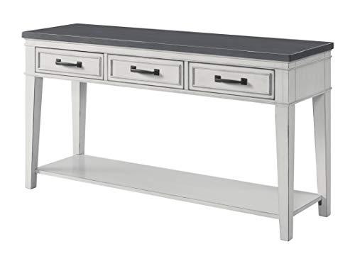 Martin Svensson Home 810149 Del Mar, Sofa Table, Antique White and Grey
