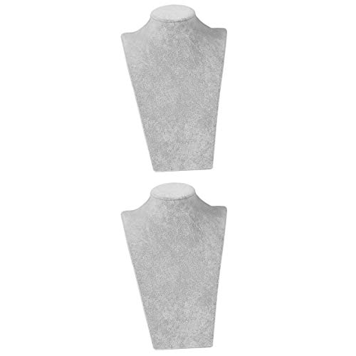 joyMerit 2Pack Jewelry Display Bust Mannequin Stand Necklace Choker Hanging Rack Gifts