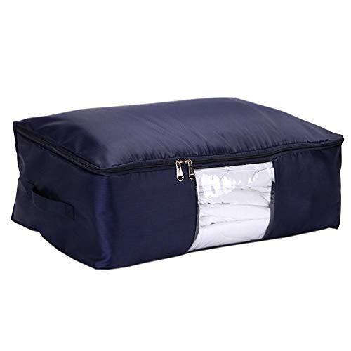 Hemoton Stor klädförvaring vikbar sängkläder förvaringsväska med dragkedja och handtag tyg för kläder filt kudde undersäng säng sängkläder täcken förvaring