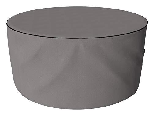 SORARA Housse de Protection Hydrofuge pour Table Ronde | Gris | Ø 203 x 90 cm