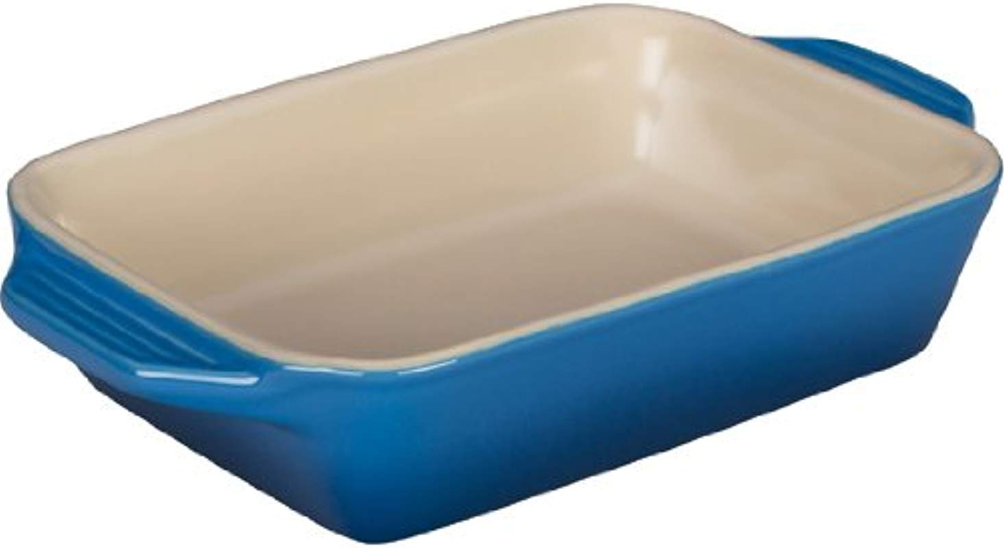 Le Creuset Stoneware Rectangular Dish 7 By 5 Inch Marseille