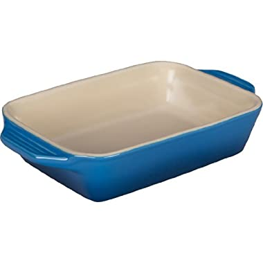Le Creuset Stoneware Rectangular Dish, 13.5 (Includes handle) by 8-Inch, Marseille