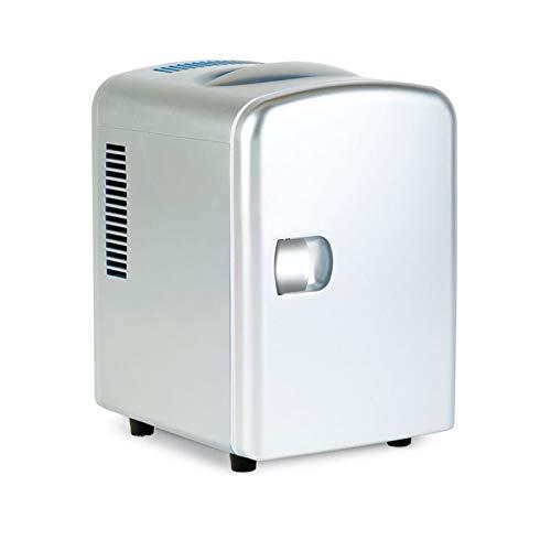 Mini Nevera, Mini Frigoríficos, Refrigerador Pequeño Refrigerador Refrigerador Eléctrico Refrigerador Y Calentador Mini Fridge 4 Litros / 6 Can Electric Cooler Y Más Cálido Pequeño Refri(Color:blanco)