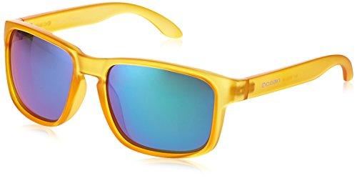 Ocean Sunglasses Blue Moon Gafas de Sol, Unisex, Amarillo (Amarillo Transparente/Verde revo), Talla Única