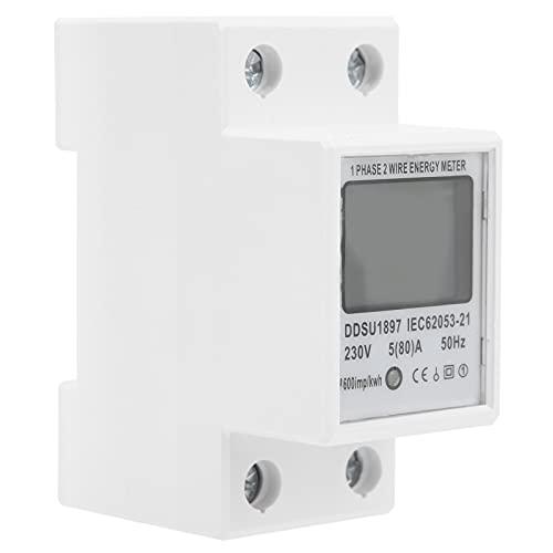 BOTEGRA Medidor de Electricidad, monofásico Medidor de energía de 2 Cables Medidor...