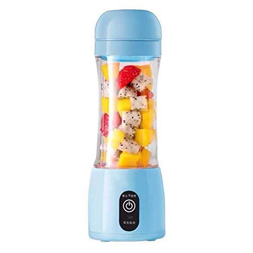 ZHANGNING Juicer Portátil Blender USB Fruta Vegetal Jugo Mezclador Taza Botella de Agua Tapa eléctrica Limón Naranja Juicer Bebé Maker Mini Blender Juicer centrífugo (Color : Blue)