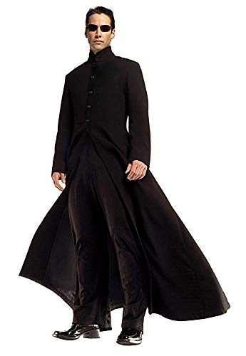 Inception Pro Infinite - Neo Matrix Kostüm Jacke und Hose - Verkleidung - Karneval - Cosplay - Mann - Halloween - Schwarze Farbe - Größe s