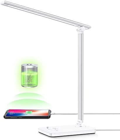 LED Desk Lamp YIIMER Eye Caring Table Lamps with USB Charging Port Dimmable Office Desk Lamp product image