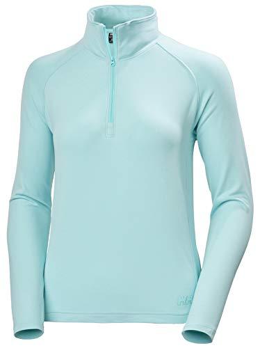 Helly Hansen W Verglas 1/2 Zip Camiseta, Azul Glaciar, L Mujer