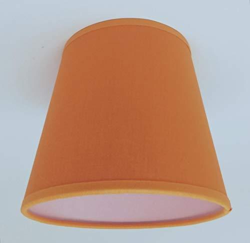 Petit abat-jour en coton à clipser pour lustres et appliques murales - Orange