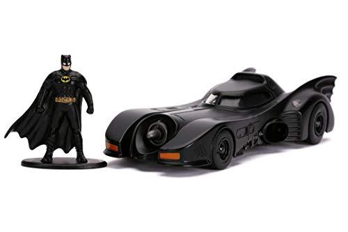Jada - Coche Batmóvil de la Película Batman de 1989, Escala 1:32, con Figura de Batman, Fabricado en Metal de Calidad Fundido a Presión, para Niños a Partir de 8 Años