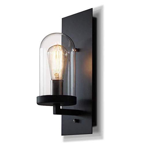 WHSS Nordic Simple Country Retro Industrial Balcón Pasillo Pasillo Luces De Noche Lámpara De Pared De Hierro Forjado E27 × 4 Apliques