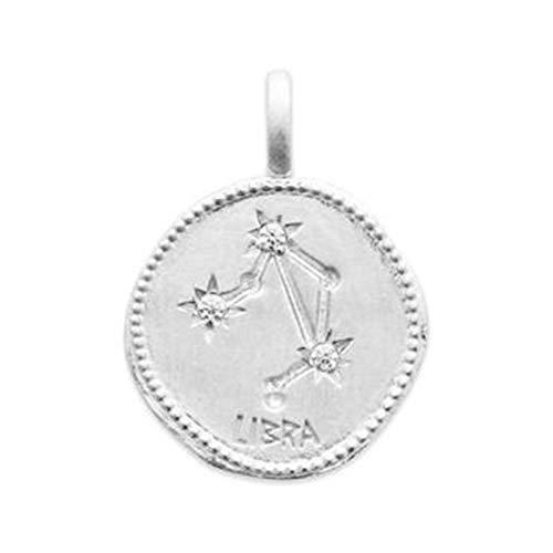Hanger sterrenbeeld balans van sterling zilver 925 gerhodineerd en zirkonia