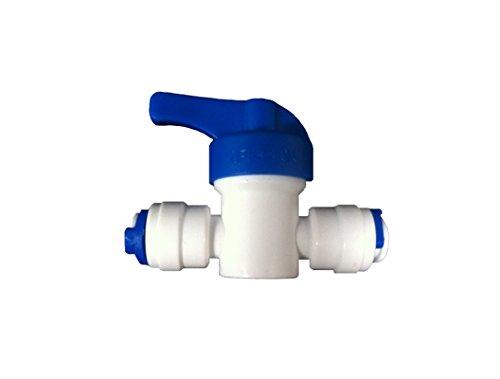 Inline-Hahn / Absperrventil / Isolier-Ventil, 6,4mm (1/4Zoll), für LLDPE-Kühlschränke / Gefrierschränke / Umkehrosmose-Wasserfilter, Rohre usw. mit 6,4-mm-Anschluss (1/4Zoll)