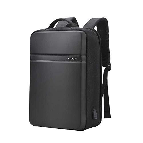 ZHANGZHE Business Men'S Waterproof Hard Shell Computer Bag Trendy Large Capacity Backpack Usb Charging Leisure Travel Backpack