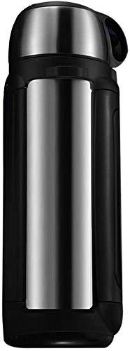 ZCRR Jarra al vacío, olla de aislamiento de 2 litros, acero inoxidable 304 al vacío de gran capacidad portátil para viajes al aire libre (color: plata)