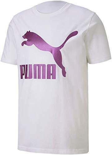 PUMA Herren Classics Logo Tee T-Shirt, Weiß-Charisma, XX-Large