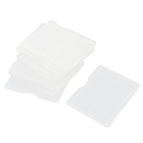 uxcell 10 Pcs Microscope Glass Slide Box Case Clear White for 2 Slides