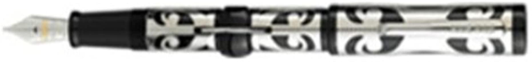 Conklin Deco Crest Mark Twain Limited Edition Sterling Silver Overlay Fountain Pen-Medium