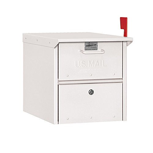 Salsbury Industries 4325WHT, White Roadside Residential Mailbox