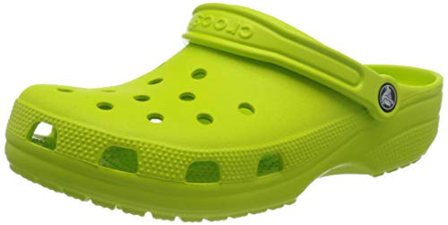 Crocs Classic Zuecos con correa Unisex, Verde (Lime Punch), 41-42 EU
