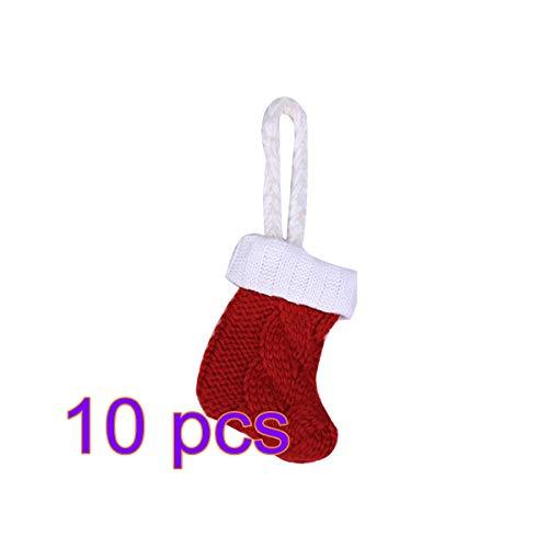 BESTOYARD 10pcs Porte-Couverts de Noël Porte-Chaussettes de Noël Porte-Couverts