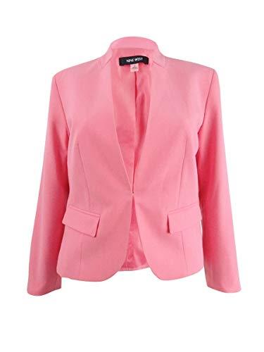 NINE WEST Women's Plus BI Stretch KISS Front Jacket, Bubble Gum, 20W