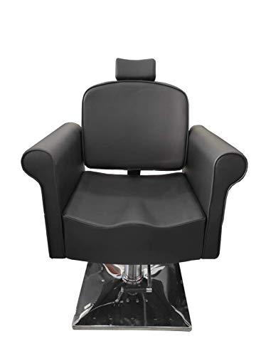 Cris nails - sillón giratoria 360º con base fijo y apoyapiés, altura regulable, uso profesional para peluquería, tienda de tatuaje, salón de Belleza, masajería (modelo 20120B-1)