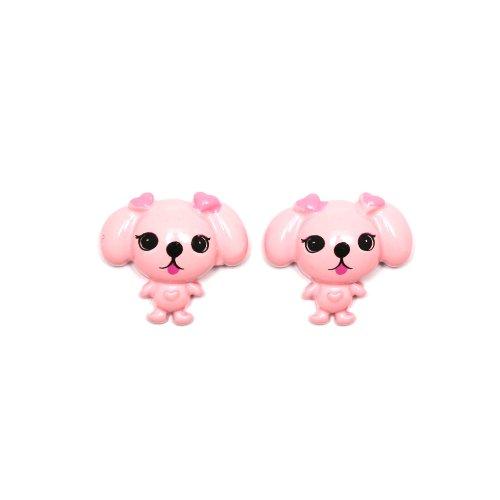 Idin Orecchini a clip - Cucciolo rosa (ca. 20 x 20 mm)