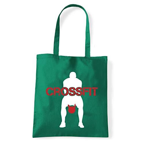 Art T-Shirt, Schultertasche Crossfit Kettlebell, Shopper, Meer, crossfit-kettlebell-bag-grn, Grün, crossfit-kettlebell-bag-grn Einheitsgröße