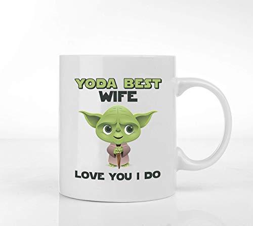 Taza de café Star Wars de 308 ml, taza de Yoda para el día de San Valentín para ella