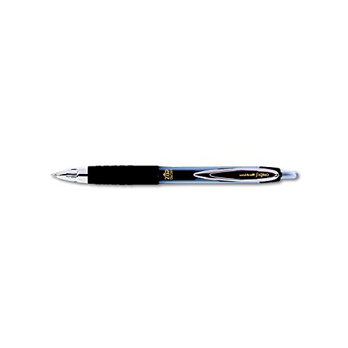 uni-ball 61255 Signo Gel 207 Roller Ball Retractable Gel Pen Black Ink Micro Fine Dozen