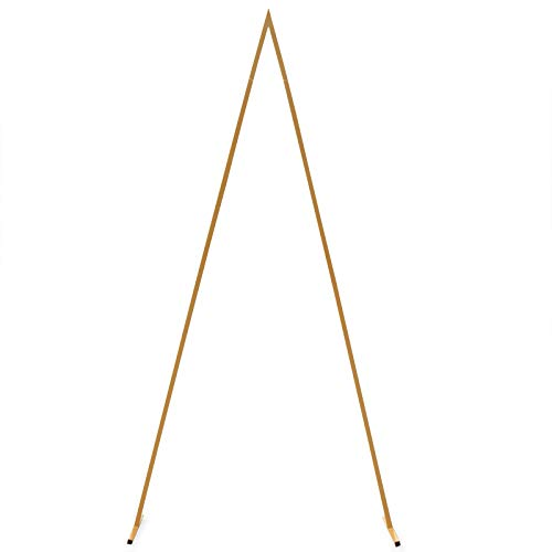 LOYALHEARTDY 2.5M Wedding Backdrop Stand Gold Metal Triangle Backdrop Stand for Wedding Photo Photography Party Background Balloon Arch Decoration