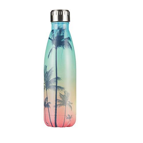 Wasserflasche Kaffee Teetassen Doppelwandige Bierthermosflasche Outdoor Travel Sport Chilly Drink Bottle Shaker