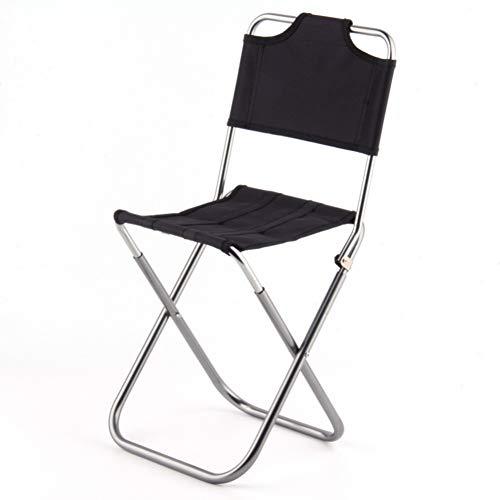 Portable Pliant Tabouret Chaise d'extérieur Pêche Camp léger en Aluminium Tabourets Siège pour Camping Pique-Nique Voyage Noir