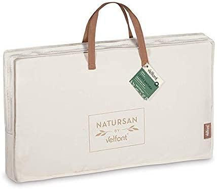 Almohada de látex Natural y Doble Funda listada de algodón del prestigioso Fabricante Velfont (75cm)