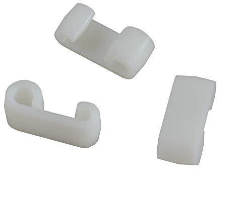FKAnhängerteile 50 Stück - Expander - Doppelhaken - Planenhaken - Expander-Doppelhaken weiß