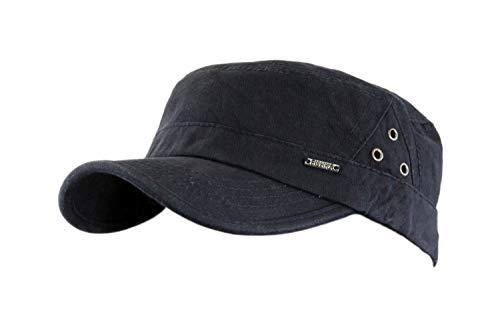 Leoodo Herren Damen Military Army Stil Cap aus Baumwolle verstellbare Sonnen Kappe für Wandern und Sport, Mütze Farbe 2020:Schwarz