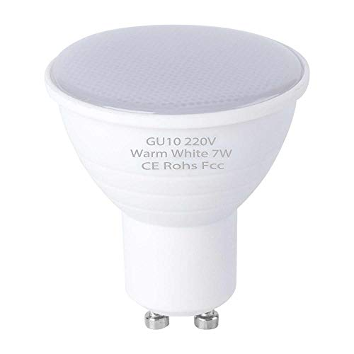 10 Stück Gu10 Led-Maiskolben Mr16 Spotlight 220V Focos Led-Birne 5W 7W Ampulle Gu 10 Led-Lampe Gu5.3 Spotlicht Energieeinsparung 2835 Smd-Gu10_Milky_6Leds_5W_220V_10Pcs_Warm_White_2_Years_Warranty