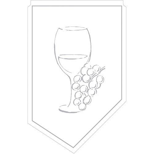 Weinmanschette Romeo Silber aus Tissue 9-lagig, 100 x 65 mm, 150 Stück