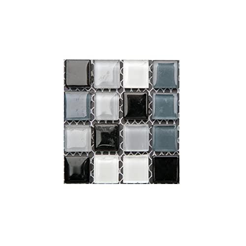 ISAKEN 10 piezas de pasta de azulejos de cristal 3D mosaico casa decoración cocina