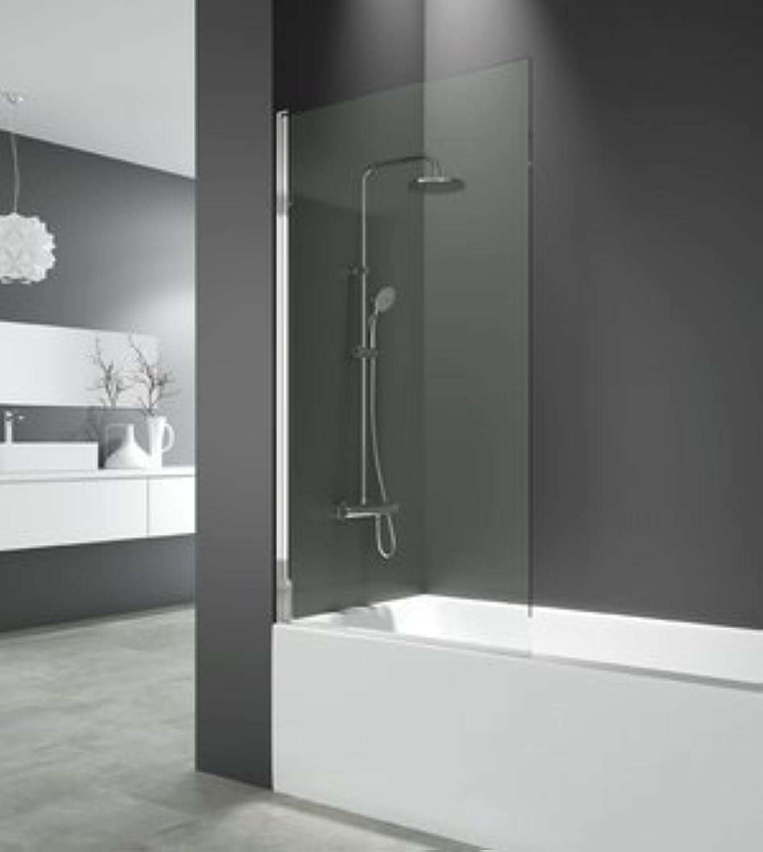 Duschwand Open Klappsitz und drehbar 150x 85cm aus Glas Sicherheitsweste 6mm