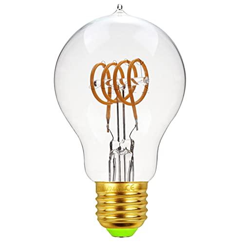 Bombilla Edison Vintage Bombilla de Filamento LED 360° Ámbar Resplandor Gran Angular 2300K Bombillas...