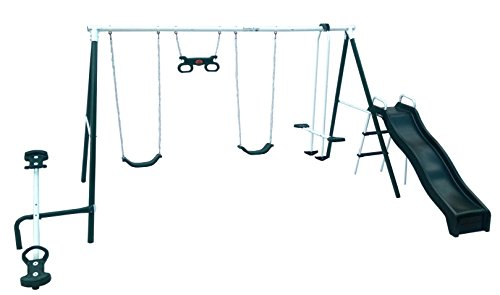 Flexible Flyer Backyard Fun Swing Set with...