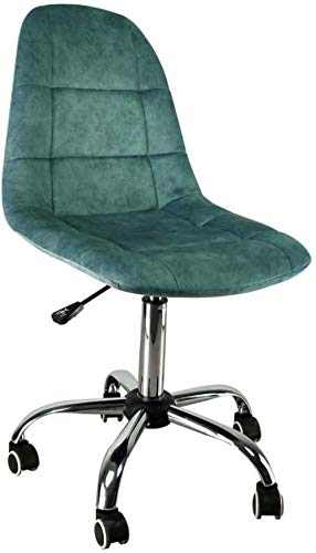 JYHJ Silla ergonómica moderna con respaldo de tela, estilo informal, mesa giratoria de cinco ruedas y sillas, amarillo, verde, color: morado (color: verde)