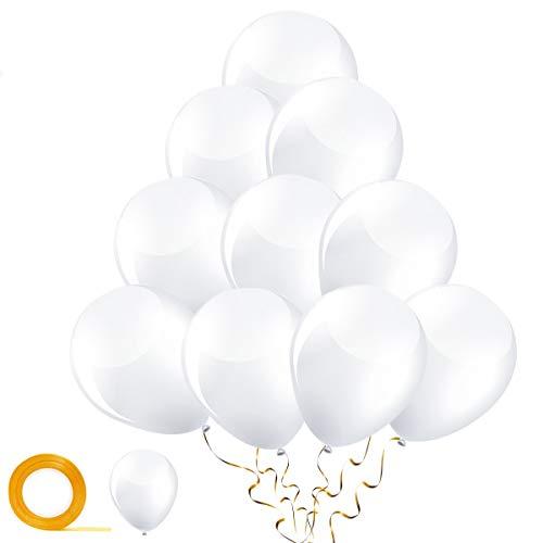 Yiran 30 Palloncini Compleanno Bianco - palloncini compleanno bambina e bambino - palloncino feste - palloncini Decorazioni per Compleanni Festa per Bambini,Anniversario,Battesimo,Natale, Matrimoni