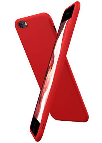 OneFlow Coque Souple SlimShield Pro Compatible iPhone 6s / iPhone 6 | adhérente/Silicone+TPU, Rouge